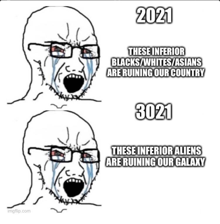Humans will never change - meme