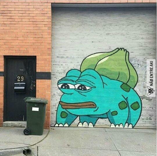 aquele momento que o grafiteiro mita mais que o possível - meme