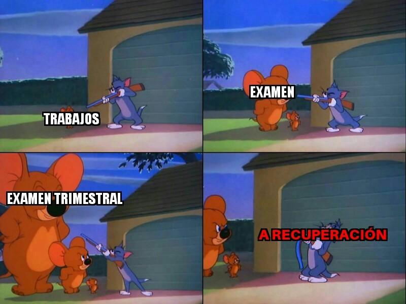 Típica vida de un estudiante - meme
