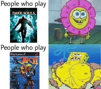 Jak 2 is hard af - meme