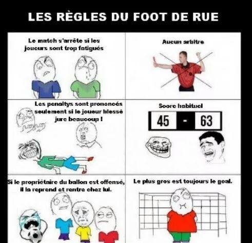 Le foot à l'école - meme