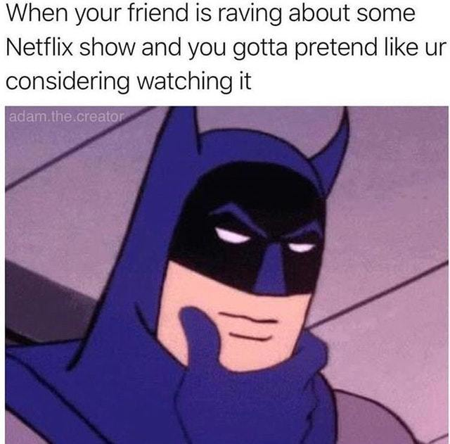 I won't watch your Netflix show - meme