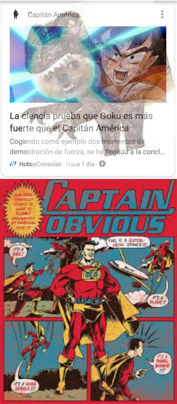 Capitán obvio - meme