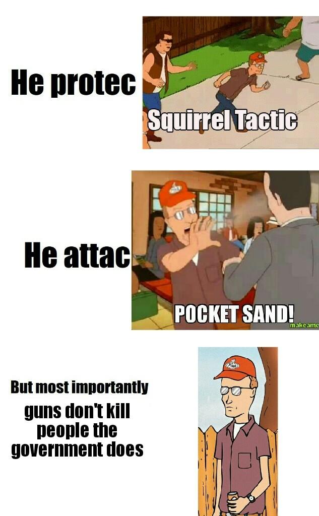 It's true guns don't kill people - meme