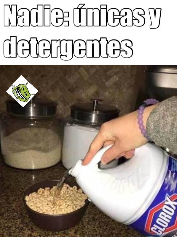 Únicas y detergentes - meme