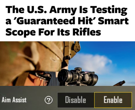 The US Army is testing a guaranteed hit smart scope for its rifles - meme