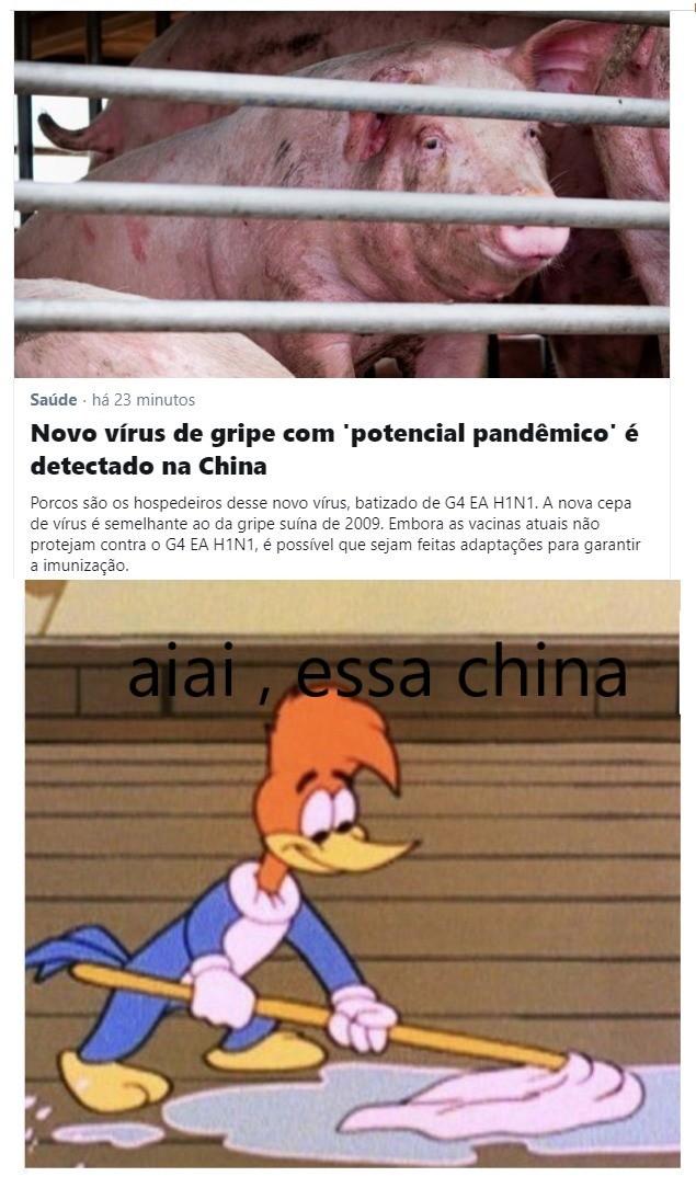 Aiai essa china não tem jeito - meme