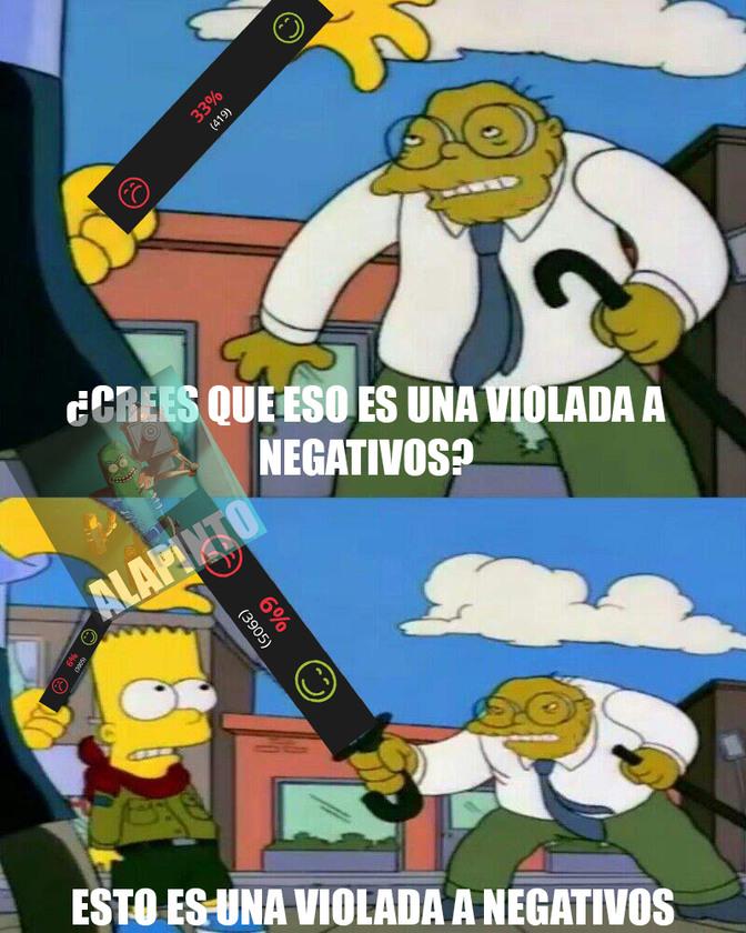 VIOLADA A NEGATIVOS - meme