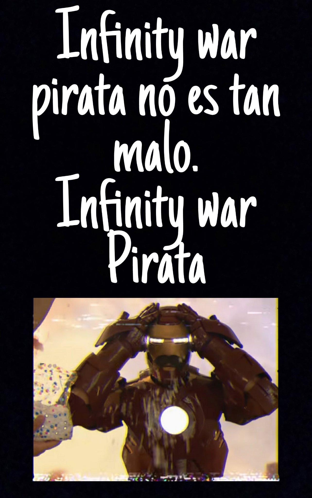 Infinity war Pirata - meme