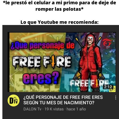 Una vez le preste la compu a mi primo y en el historial encontré Rule 34 de free fire XD - meme