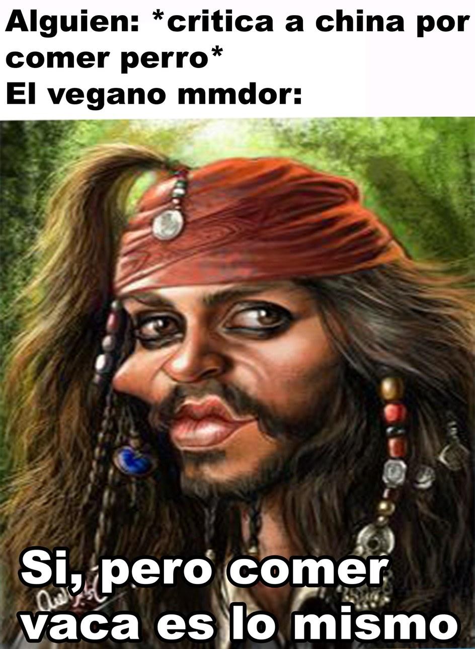 Pinches veganos - meme