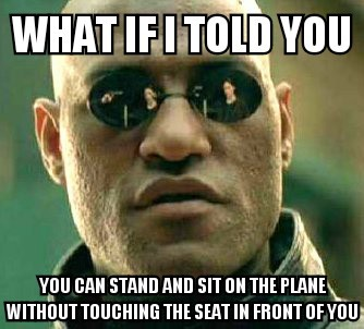 Plane etiquette - meme