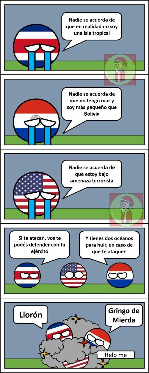 Costa Rica y Paraguay _VS_ U.S.A. - meme