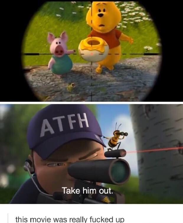 Avant quand j'étais petit jme rendais pas compte Bee Movie c'était un film vraiment wtf - meme