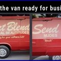 The van is now ready for business