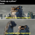 You think you can defeat me tough stuff?