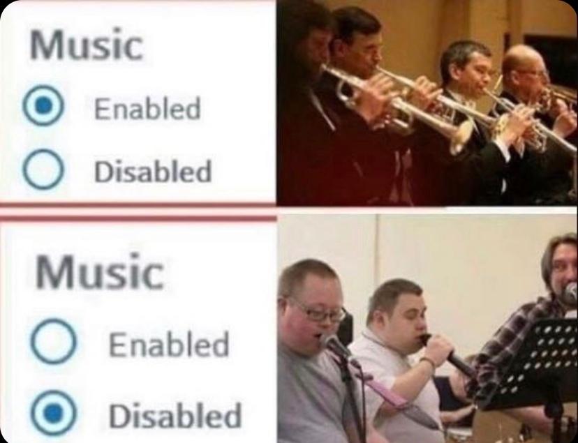 Music Disabled - meme
