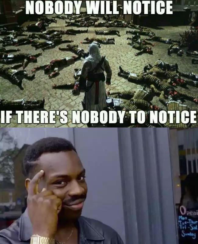 Noticing the unnoticed - meme
