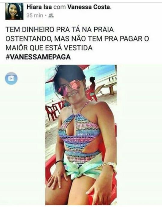 Vanessa caloteira - meme