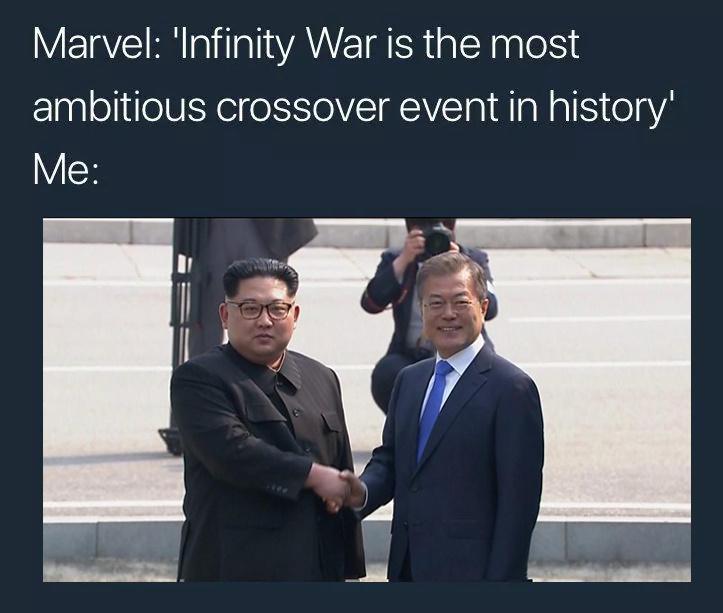 Avengers vs Kim - meme