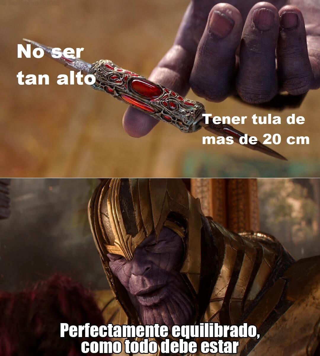 Eso es equilibrio en un hombre - meme