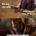 Eso es equilibrio en un hombre