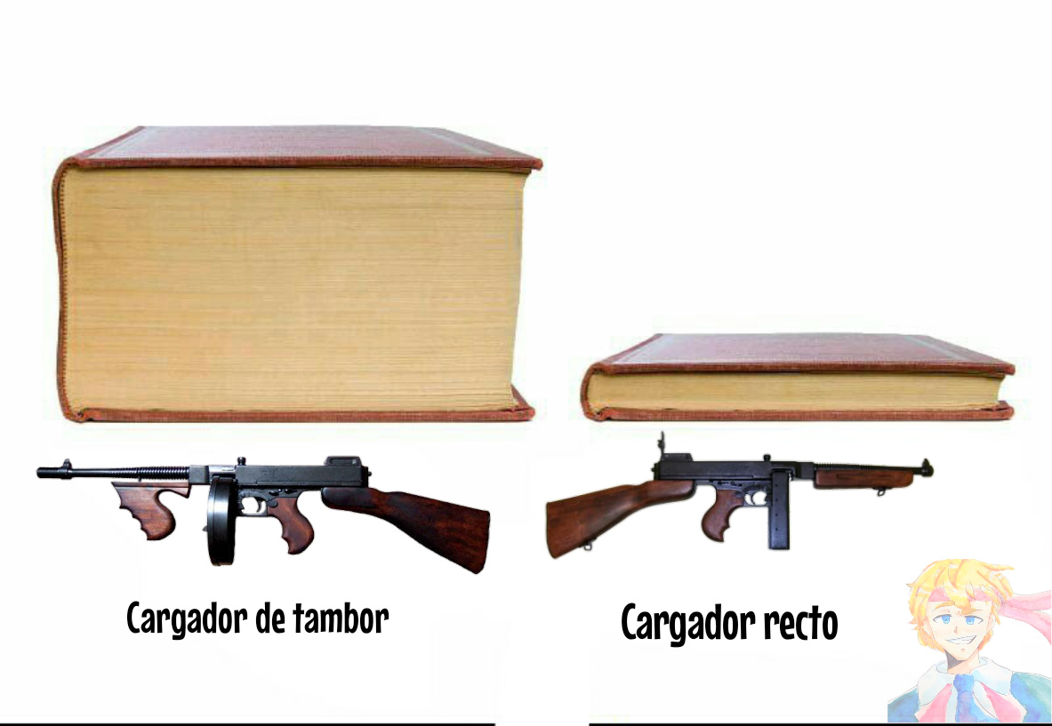 Sí. Ya sé que una es una M1928 y la otra una M1. No tienen que recalcármelo. - meme