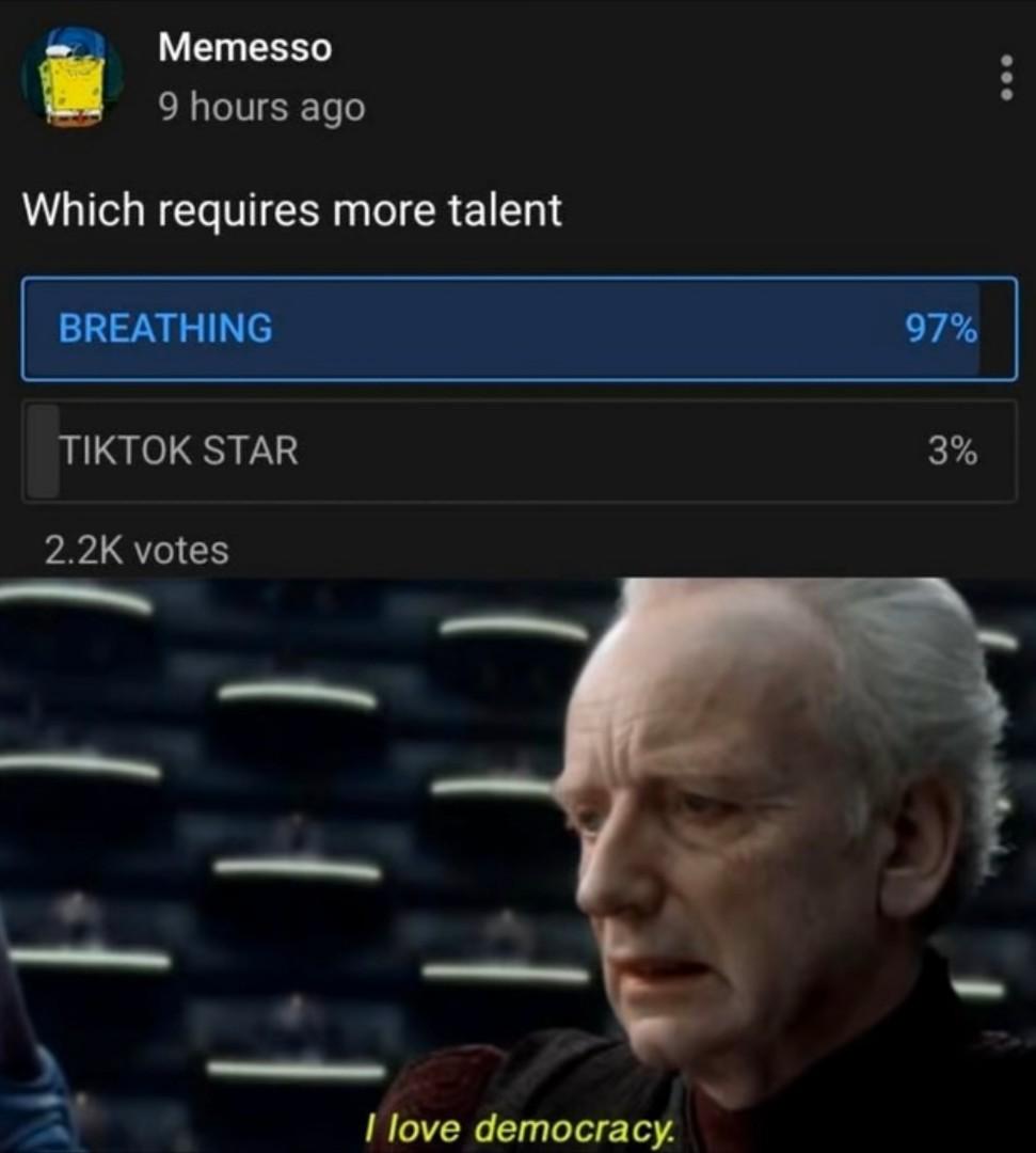 Love democracy - meme