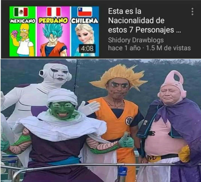 Goku peruano - meme