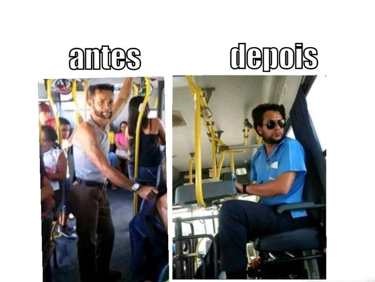 O título tá no ônibus - meme