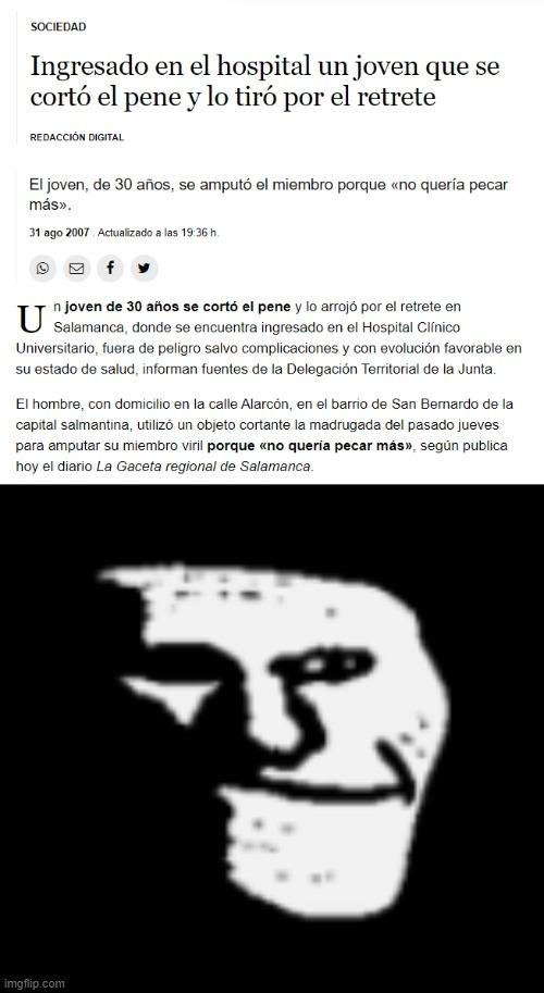 link de la noticia: https://www.lavozdegalicia.es/noticia/sociedad/2007/08/31/ingresado-hospital-joven-corto-pene-tiro-retrete/0003BB24AE17D4A6BC830116EE8C9CCF164A.htm - meme