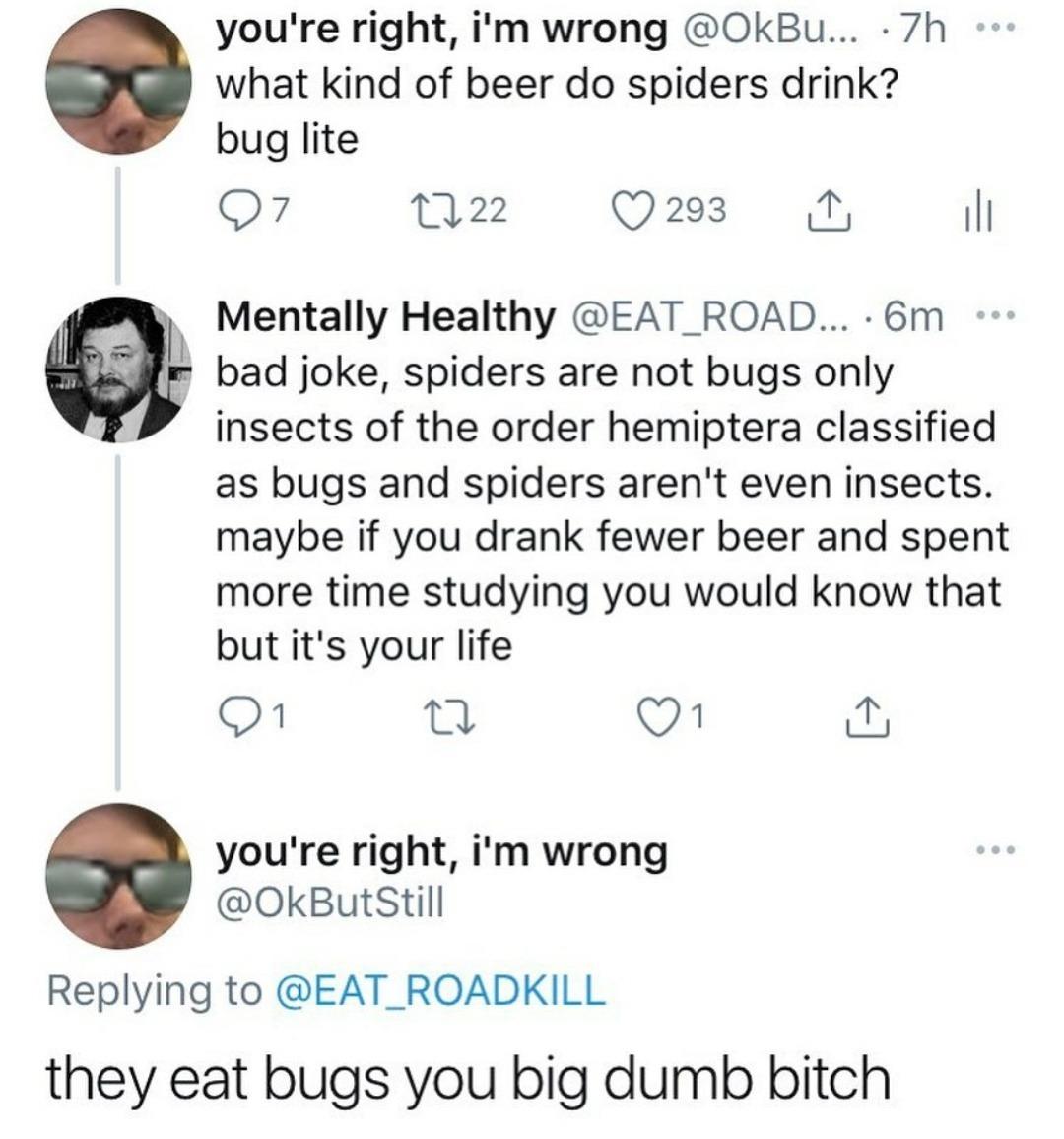 People shitting in the replies - meme