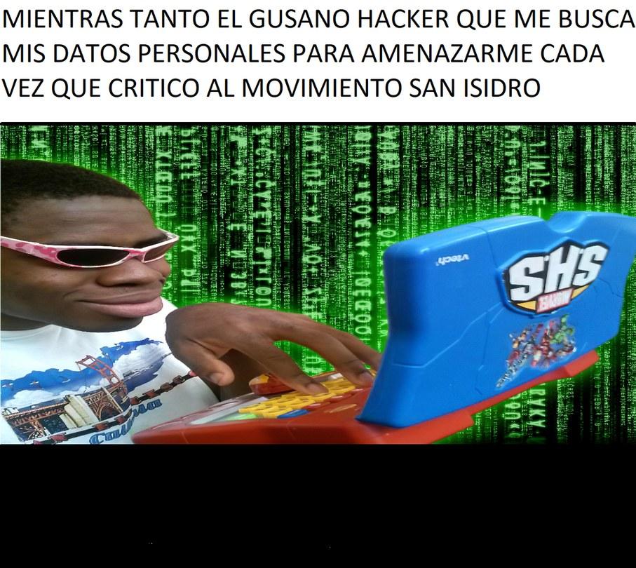 Andas hacker - meme