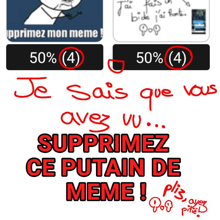N'IGNOREZ PAS. ;-; - meme