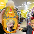 Nuevo champú para políticos, johnsons vs donald trump