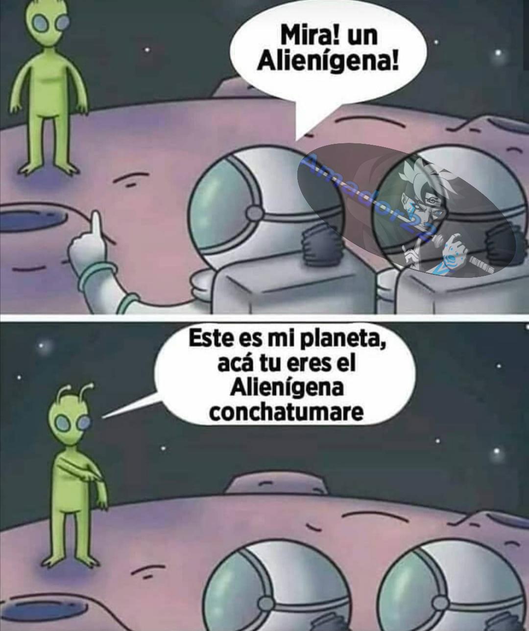 Somos alienígenas - meme