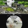 Quand tu regarde ton prof au mauvais moment