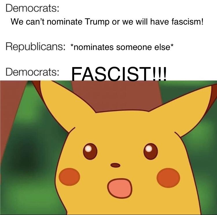 doesn't matter who wins, it's a fascist! - meme
