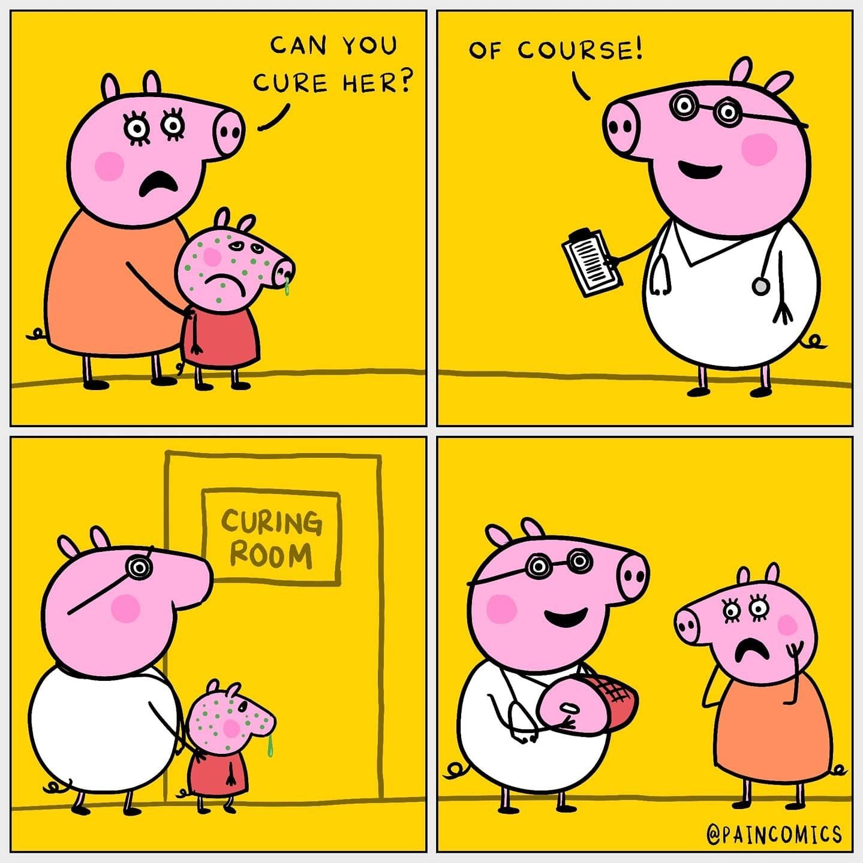 Cursed Peppa Pig - meme