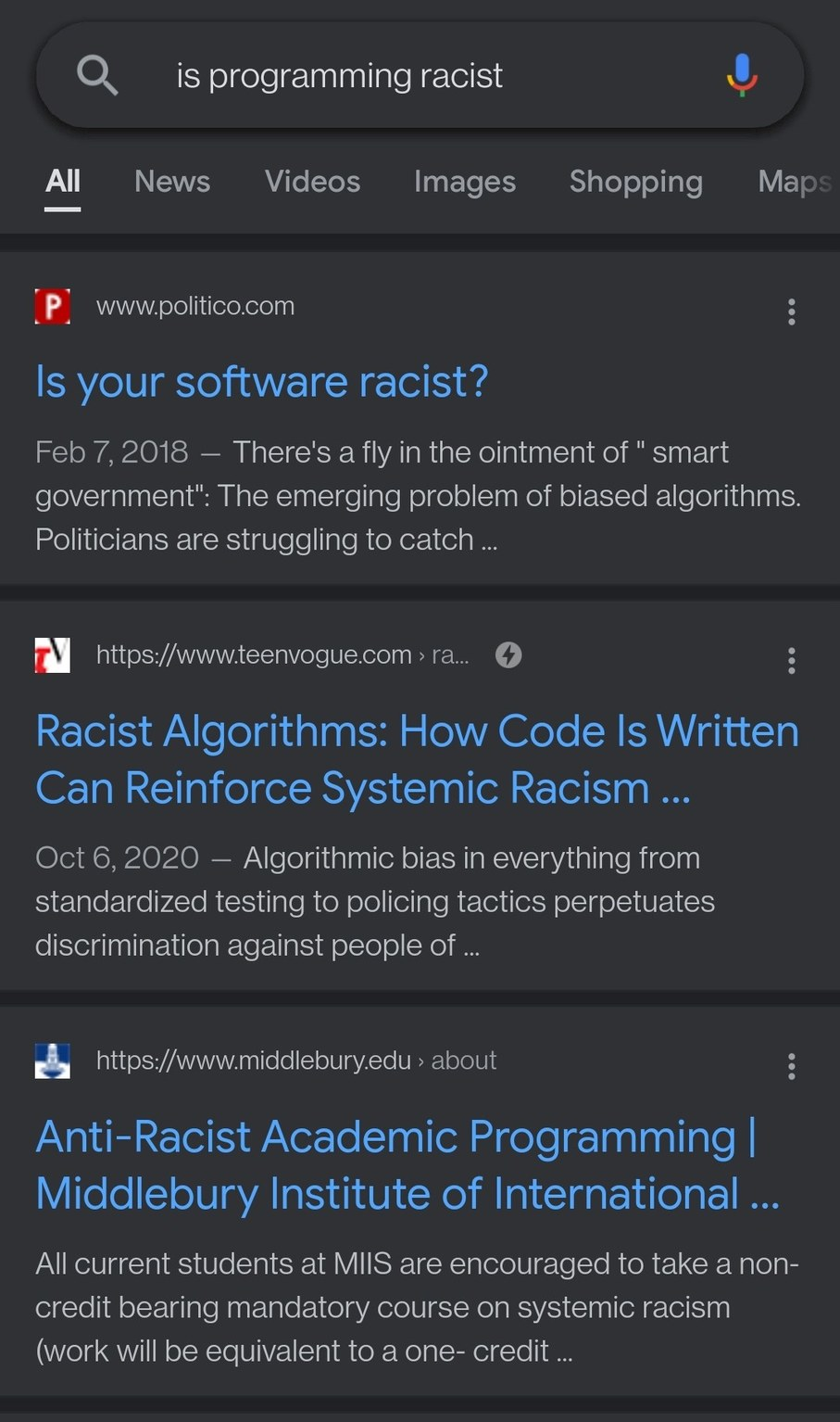 Everything is racist - meme