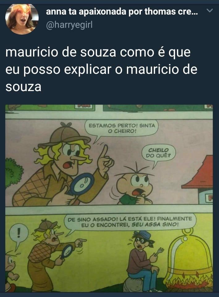 Créditos ao Maurício de Souza - meme