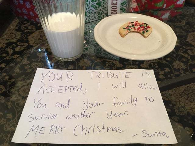 Tribute for Santa - meme