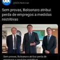 Sem provas, Bolsonaro diz que culpa da seca é a falta de água.