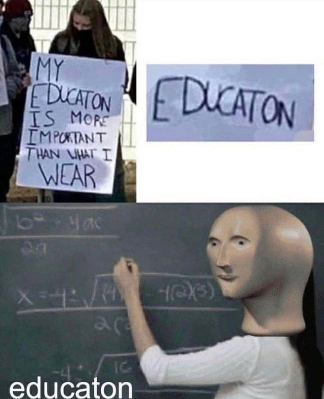 Spelling is also important - meme