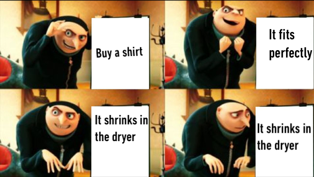 Buying clothes - meme