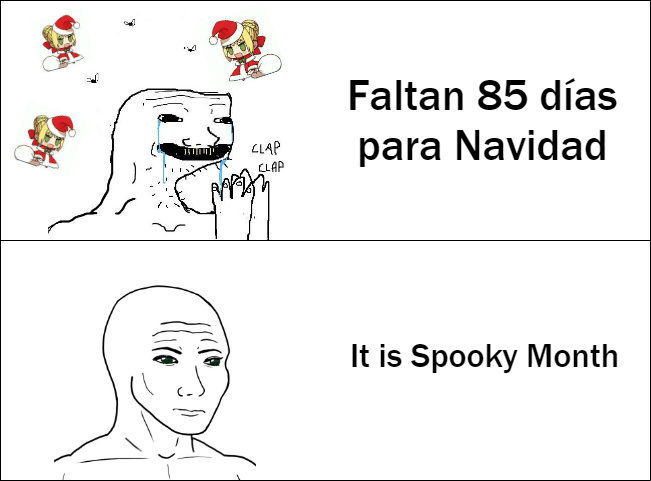 No dejen que los otakus qlos arruinen halloween - meme