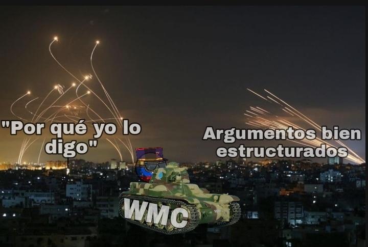 Si no entienden uno de ellos el sistema del Domo de Hierro Israeli que destruye todos los misiles palestinos - meme