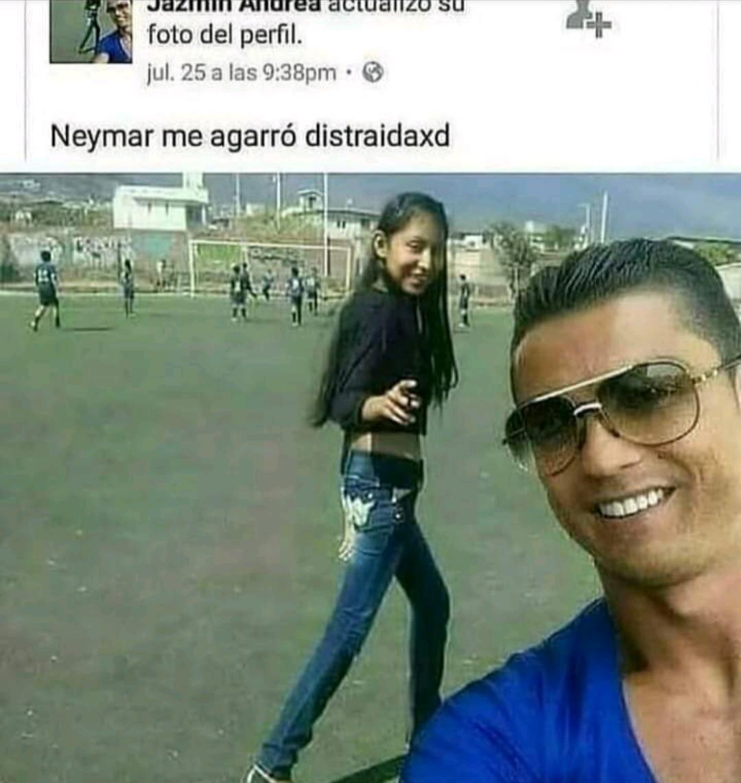 CR7: :chad: - Geymar: :zoomer: - Messi: :zoomer: - meme