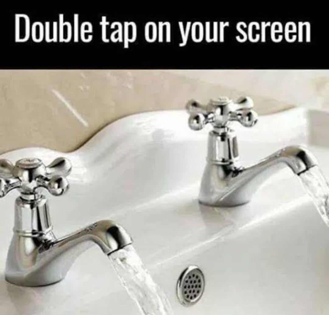 Double tap - meme