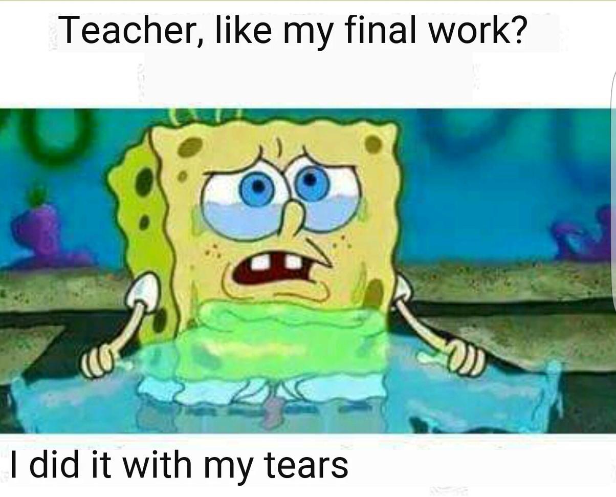 All my English teacher - meme